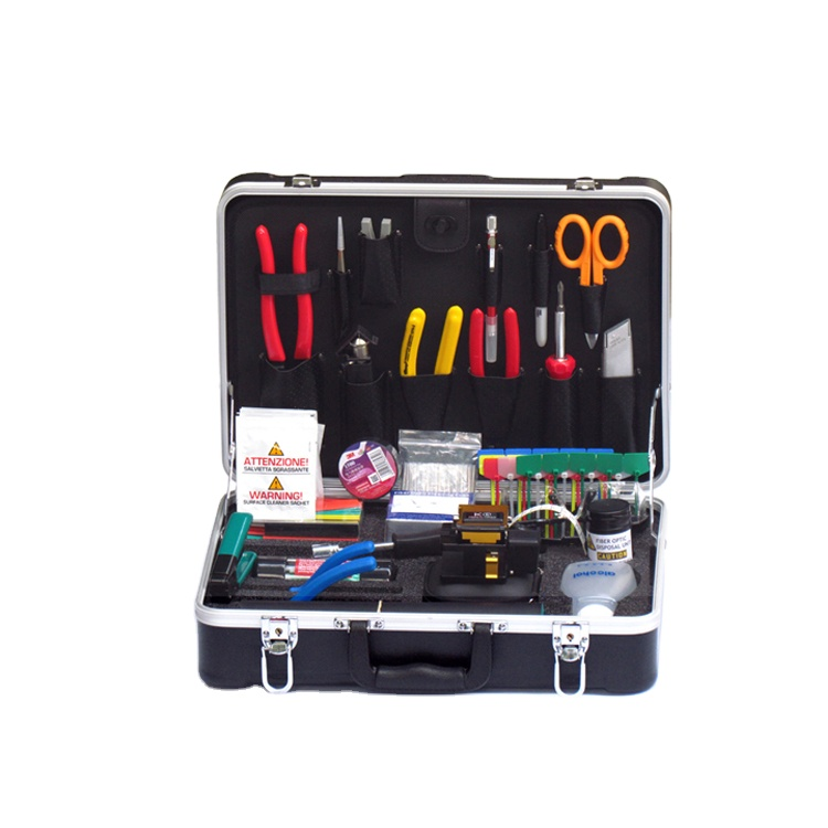 Universal Fiber Optic Fusion Splicing Tool Kit With Stripper