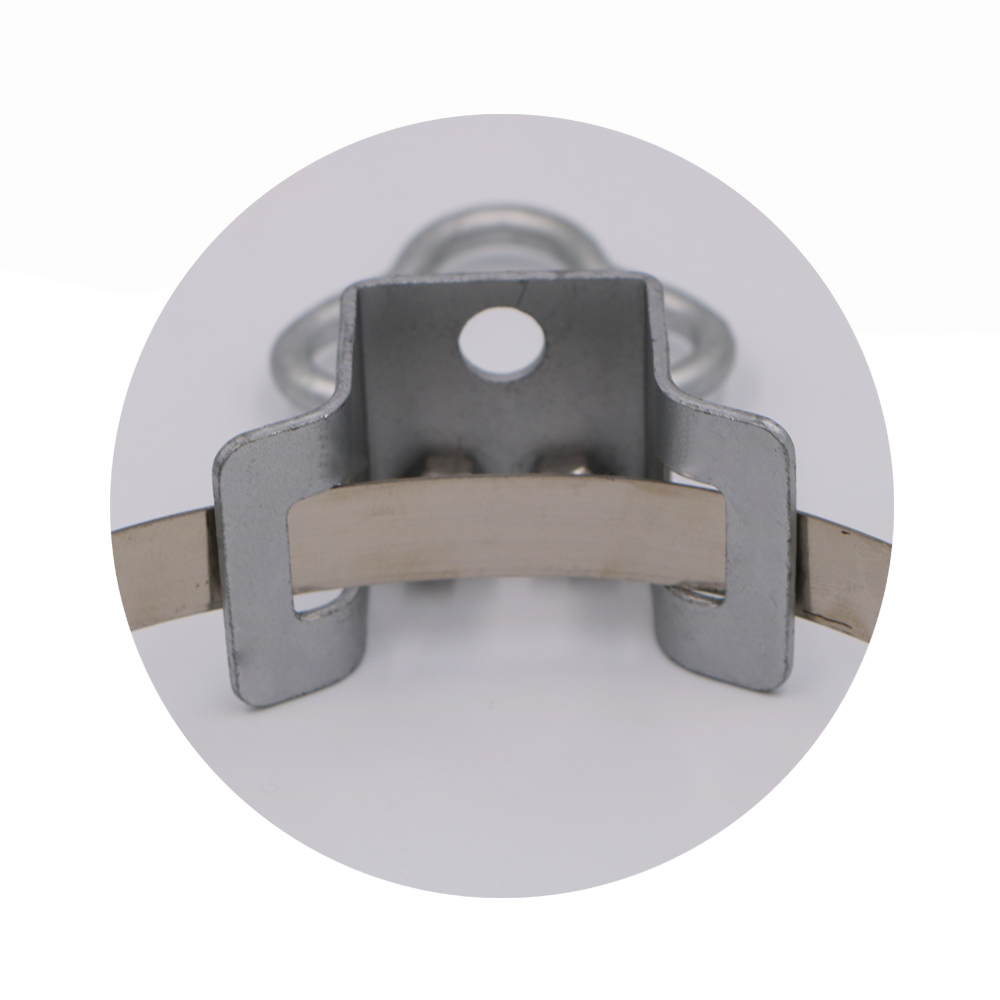 FTTH Drop Cable Steel Galvanized Coating Bracket 01